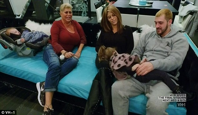 Family matters: Angela 'Big Ang' Raiola spent quality time with her family on the finale of Mob Wives