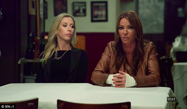 Awaiting their arrival:Drita and Brittany went to the sit down together to meet Karen and Marissa at a closed restaurant, with Drita saying she was ready to reassert herself as the 'boss' of the group