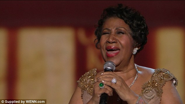 Appreciation: Aretha was given a standing ovation