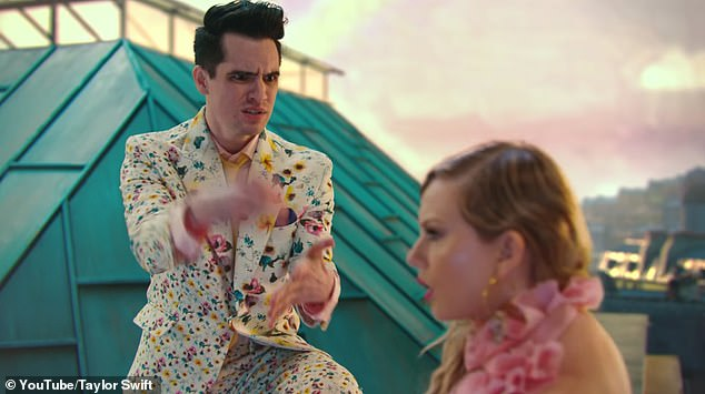 Success: The catchy track, which features Panic! At The Disco's Brendon Urie, swiftly rose to 57 million after the 24th hour and is now sitting pretty at 72 million views