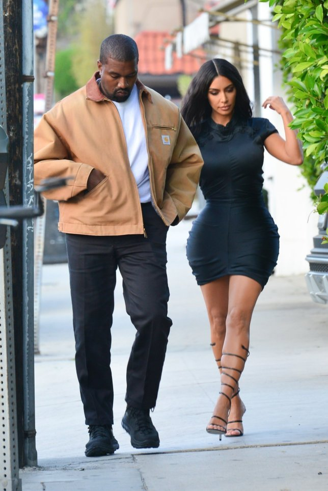 *EXCLUSIVE* Santa Monica, CA - Kim Kardashian and Kanye West have a date night dinner at Giorgio Baldi Italian restaurant in Santa Monica. Kim wears a skin-tight shiny black mini dress with lace up high heel shoes. Pictured: Kim Kardashian, Kanye West BACKGRID USA 23 MAY 2019 USA: +1 310 798 9111 / usasales@backgrid.com UK: +44 208 344 2007 / uksales@backgrid.com *UK Clients - Pictures Containing Children Please Pixelate Face Prior To Publication*