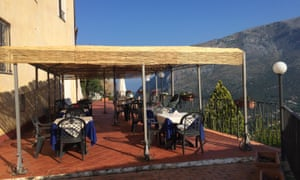 The breakfast terrace at Hotel Capo Casale