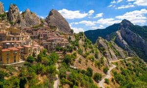 The high-altitude village of Castelmezzano