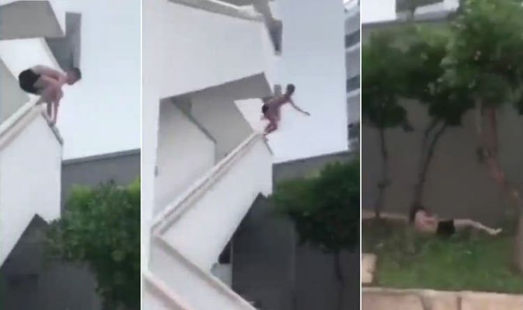 Claiming Slip From Filmed Hotel By Briton After Leaping Pool To wuOlPkXZiT