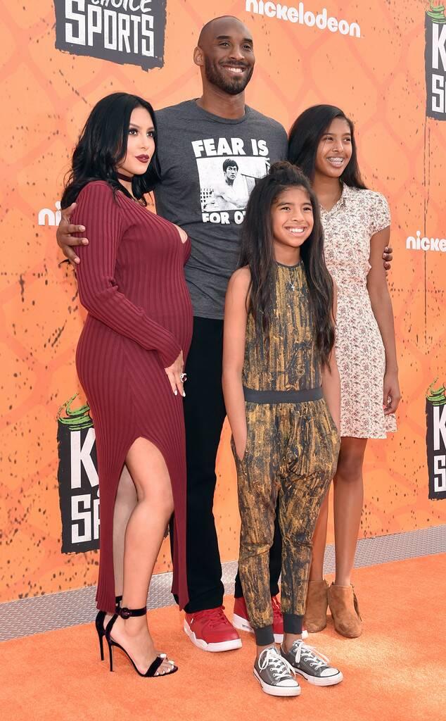 Vanessa Bryant, Kobe Bryant, Gianna Bryant, Natalia Bryan, Nickelodeon Kids' Choice Sports Awards