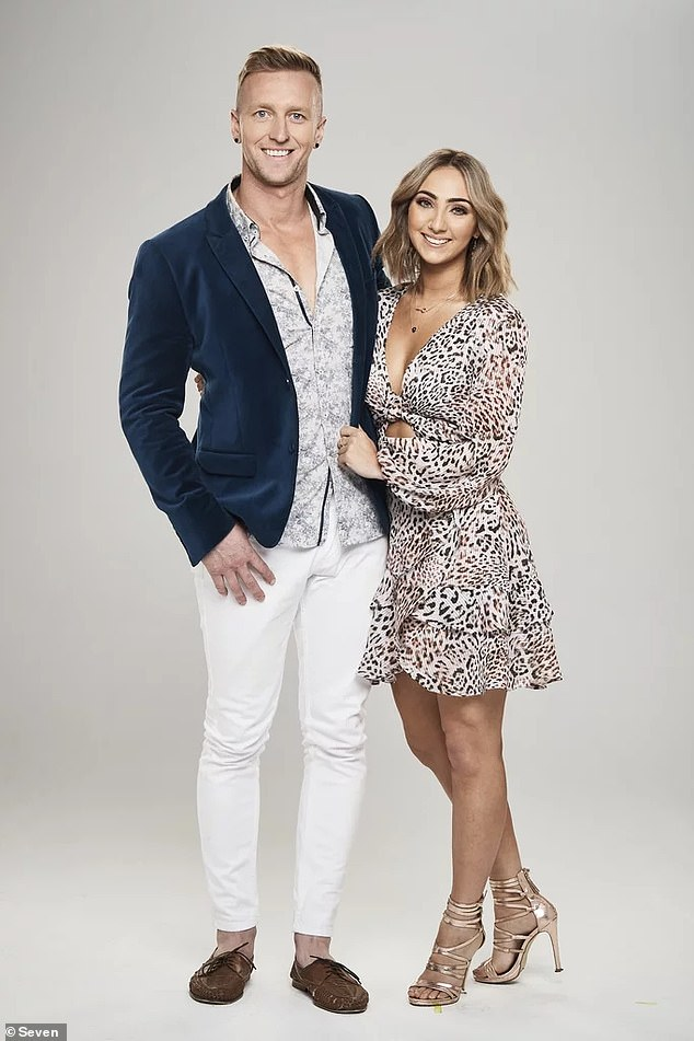 Struggle:The Super Switch's Ben Lyall has spoken about his emotional breakdown on the show. Pictured with girlfriendChristie Cassar