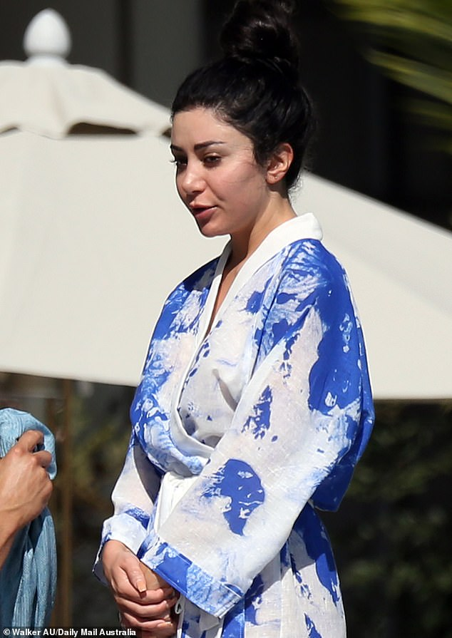 Holiday nightmare: Married At First Sight'sMartha Kalifatidis declared war on Jetstar Airways on Tuesday, after she was left 'stranded' in Cairns. Pictured: Martha in Cairns on July 11