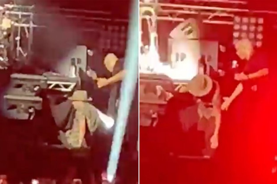 Matt Goss fans 'pray he's ok' after epic stage fall sees him face