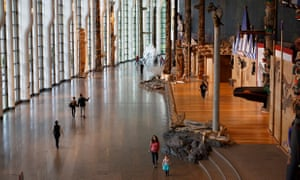 Visitors are seen walking through the Museum of Canadian History in Gatineau, Canada, October 5, 2018. (Cole Burston)