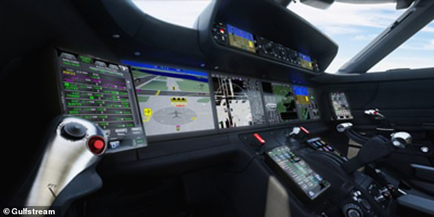 The craft is one of the first civilian aircraft whose cockpit sport ten touchscreens to display information to the crew, along with so-called 'active sidestick technology' —controls that give the pilot and co-pilot tactile feedback on the craft's flight