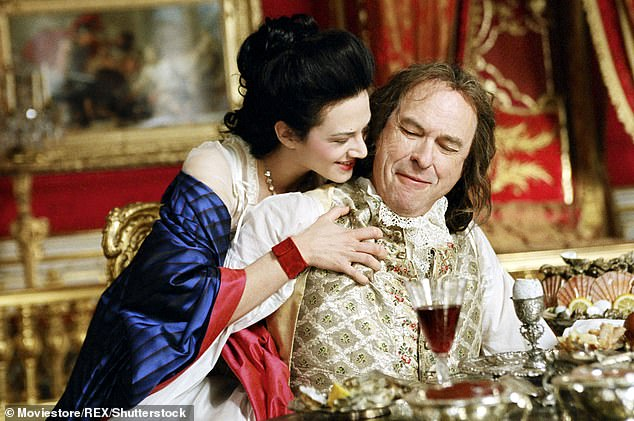 New roles: Later in life, Torn's craggy features and scratchy voice were put to use in comedic features and shows; pictured with Asia Argento in Sofia Coppola's Marie Antoinette