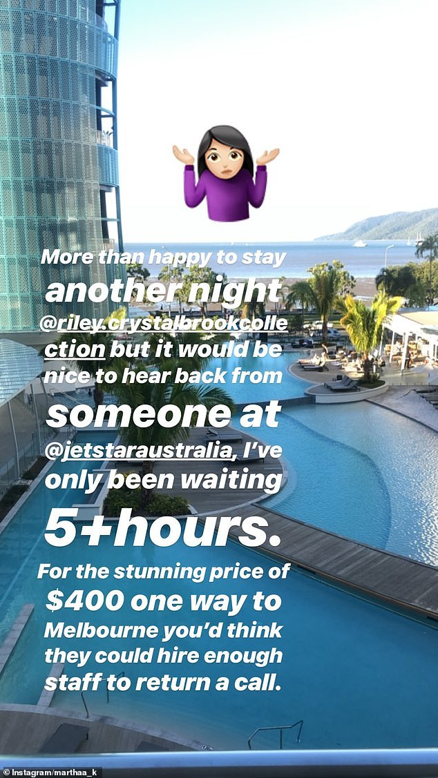 Sharing her story:The stressful saga has been well documented on Martha's Instagram Story