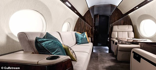 Flying at mach 0.9, the sumptuous craft can seat up to 19 passengers for journeys of 6,500 nautical miles — equivalent to London–Tokyo — before it needs to refuel