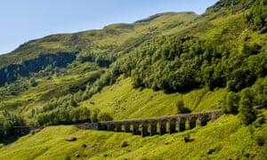Railway viaduct in Glen Ogle, Stirlingshire, Scotland.