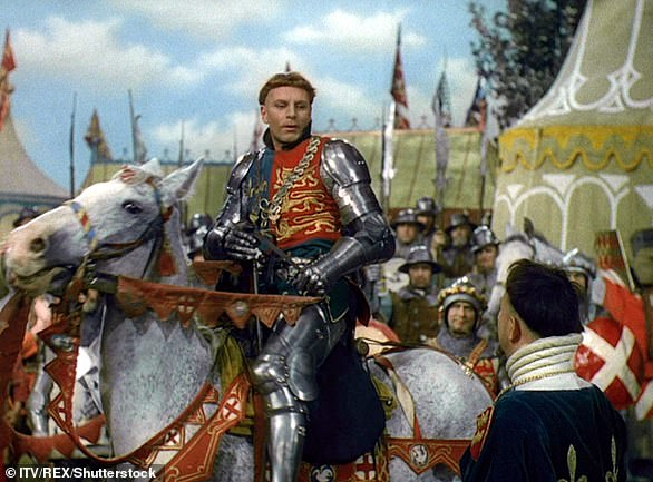 Newly crowned as King of England, Henry V, then 27, ventured across the channel to France where the English crown owned land. Pictured, Laurence Olivier during his portrayal of the king