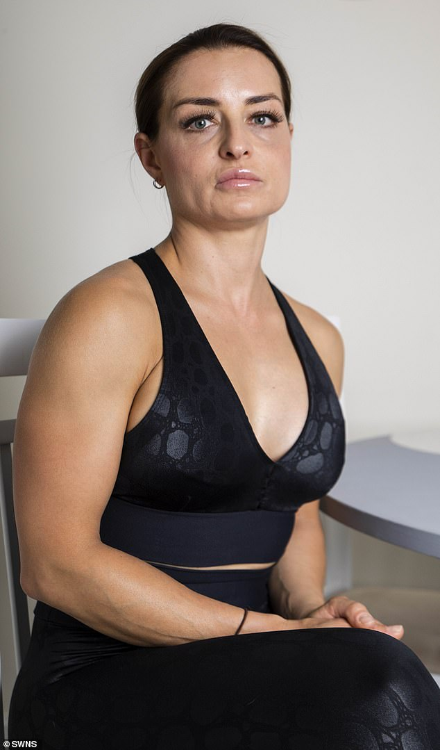 Kate Michalkova, 44,who had a £5,000 boob job to boost her confidence has been left in agony by the implants that have been recalled due to a cancer link