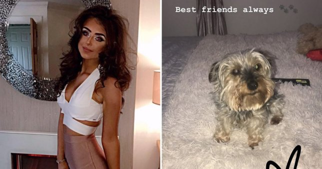 Emma McNulty and her dog millie