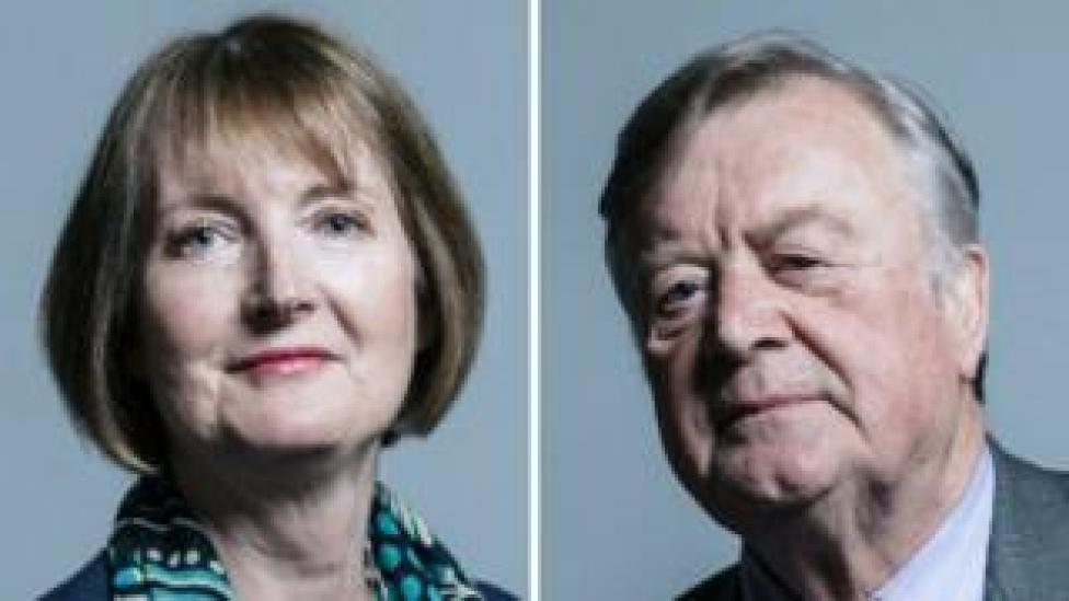 Harriet Harman and Ken Clarke