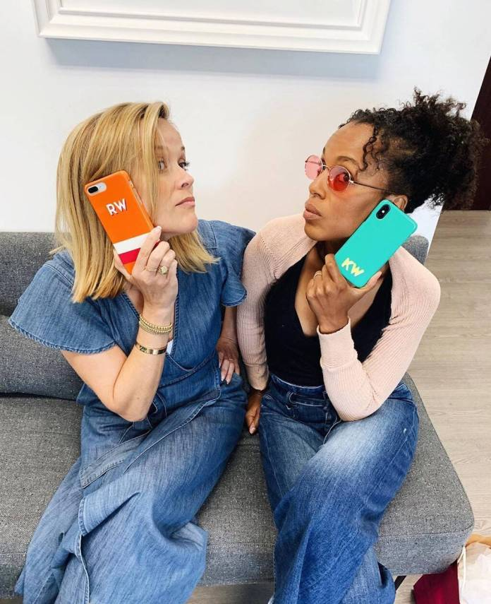 Reese Witherspoon and Kerry Washington, Instagram
