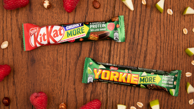 The Yorkie and KitKat bars
