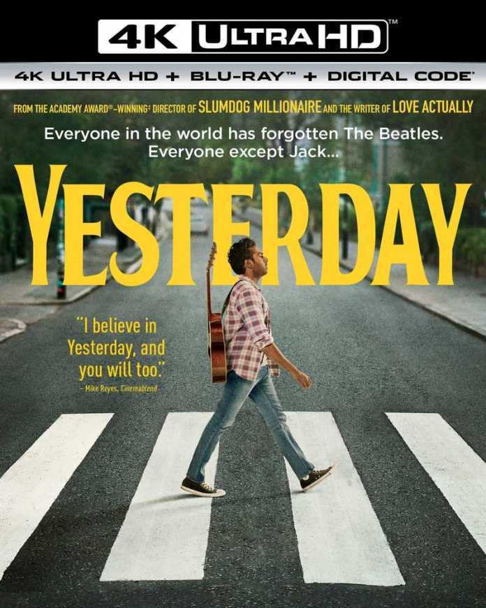 <strong><em>Yesterday</em></strong> 4K cover art