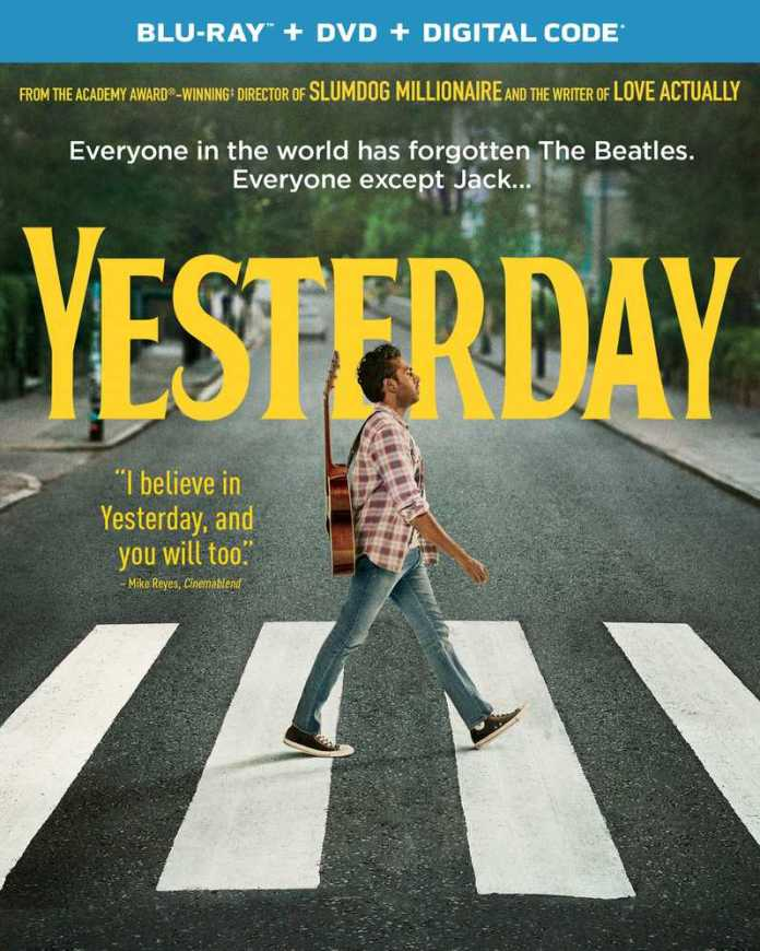 <strong><em>Yesterday</em></strong> blu-ray cover art