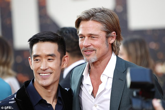 Tinseltown: Moh and Pitt posed with one another at the LA premiere last month