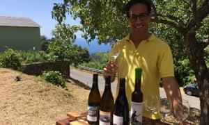 Davide with Ca du Ferrà wines