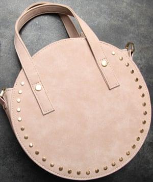 beige round women's handbag