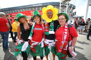 Irish eyes might not be smiling but some of the Wales fans are,
