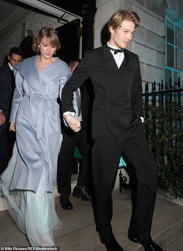 European rendezvous: And after a very busy week of press, the Love Story hitmaker is now making some time for her long-term lover, Joe Alwyn, 28 (pictured together in London in February)