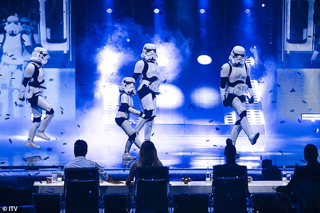 They're back! And as ever Boogie Storm earned a rousing response as the dancing Stormtroopers returned with a miniature new addition