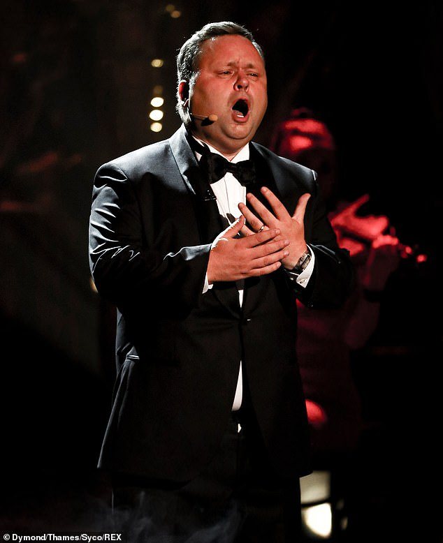 Brilliant:The former mobile phone salesman once again wowed with his jaw-dropping opera skills, this time to the most famous theme song from The Godfather