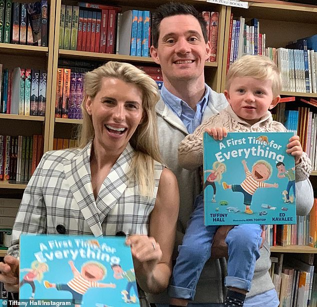 Family story:Earlier that day, Tiffany, Ed and Arnold were at a signing for their new children's picture book A First Time For Everything