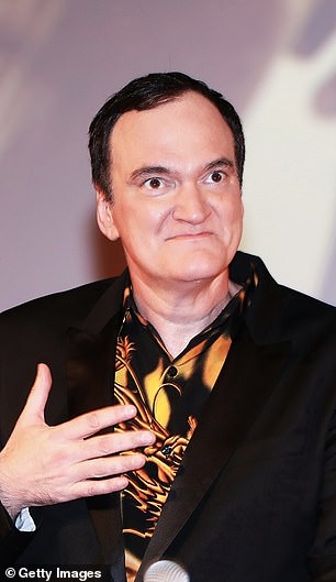 Abroad: Tarantino was snapped last week at the Oktyabr cinema in Moscow