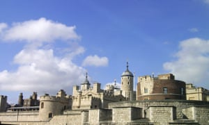 A blue sky over the Tower of London