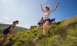 A fell race at the Malham Show in the Yorkshire Dales.