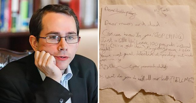 Sam Freedman and the letter his daughter sent about the tooth fairy