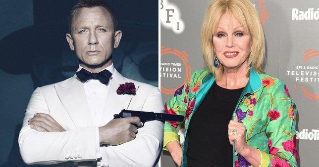 Daniel Craig as James Bond and Joanna Lumley