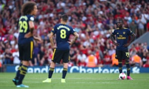 Dani Ceballos and Nicolas Pépé during Arsenal's latest nightmare visit to Anfield last Saturday.