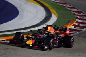 Verstappen, third place behind the Ferrari's