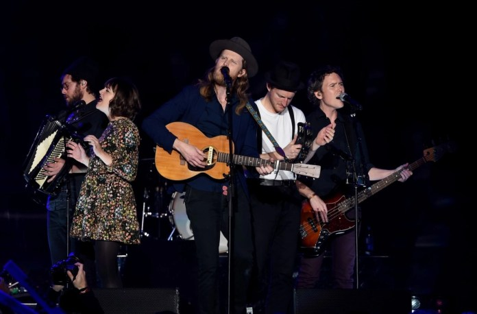 The Lumineers perform in Inglewood, California (Photo: Kevin Winter/Getty Images for KROQ)
