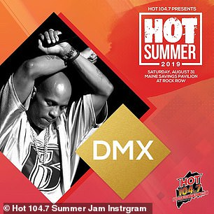 Replacement: The Hot Summer Instagram also informed fans of Khalifa's injury and that DMX would be replacing him