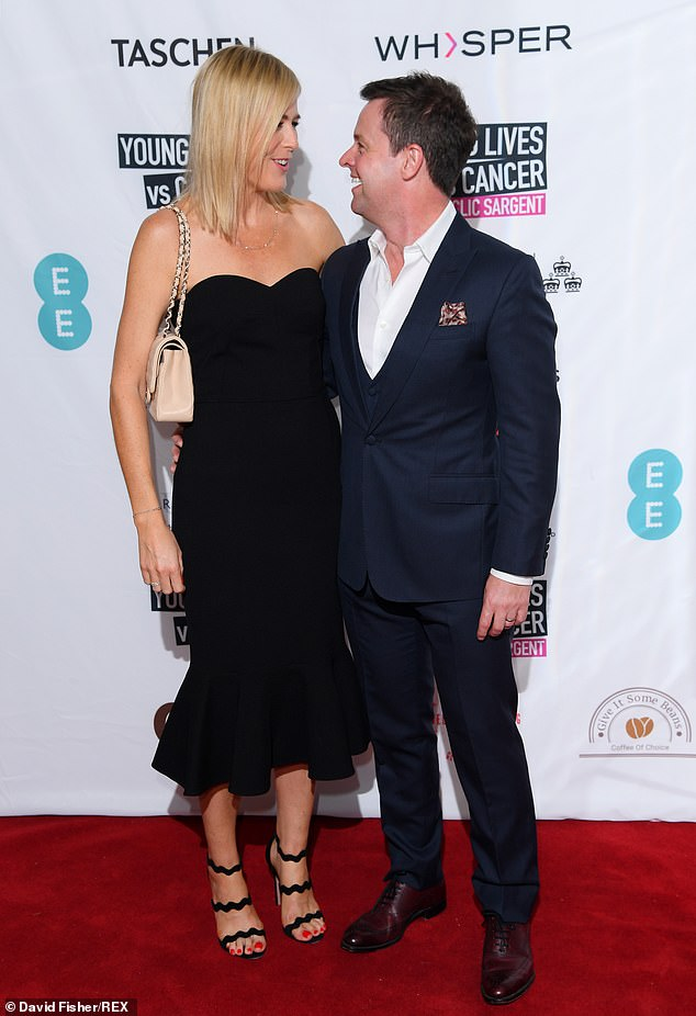Couple goals:The Saturday Night Takeaway host, 43, put on a love-up display with his talent manager partner as they cosied up on the red carpet