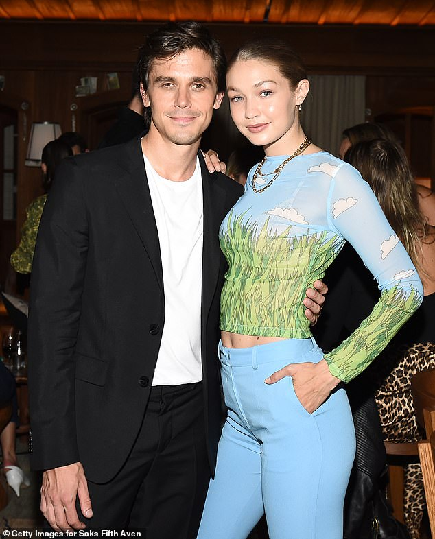 Stunner:Across town, Bella's sister Gigi was also living it up as she attended The Launch Of Antoni In The Kitchen at Le Chalet at Saks Fifth Avenue