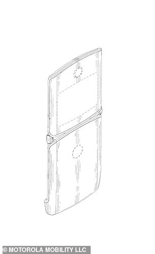 Sketches of the phone show that it would keep some elements of the 2000s-era Razr, like the large chin at the bottom of the phone