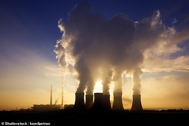 The 'paradigm shifting' approach can capture carbon out of everything from power plant emissions, pictured, to open air with concentrations of just 400 parts per million