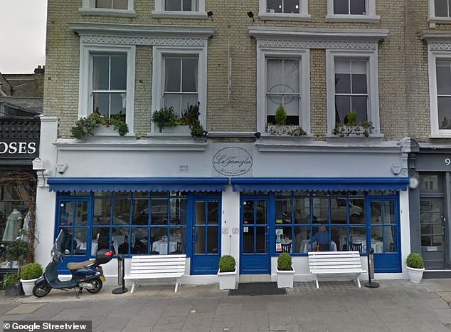 Location:Chelsea restaurant, La Famiglia, pictured on Google Street View, where Simon's 60th party was due to take place