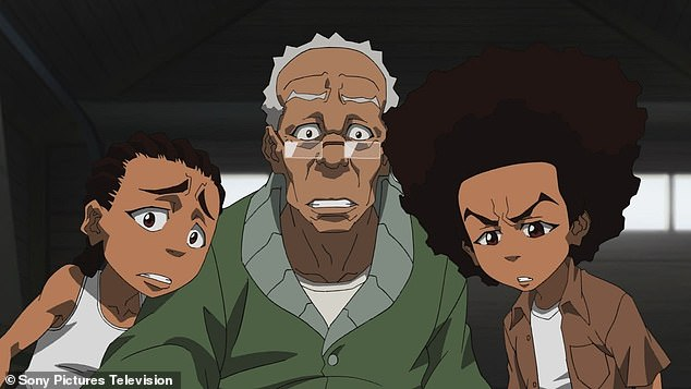 Cartoon cult classic: Witherspoon voiced Gramps on The Boondocks animated series, above