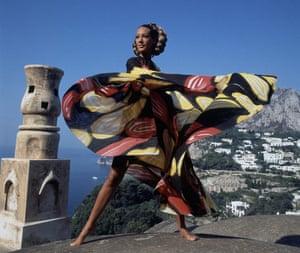 Berenson in a Vogue fashion shoot in Capri, 1968.